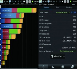 Antutu benchmark MTK6575